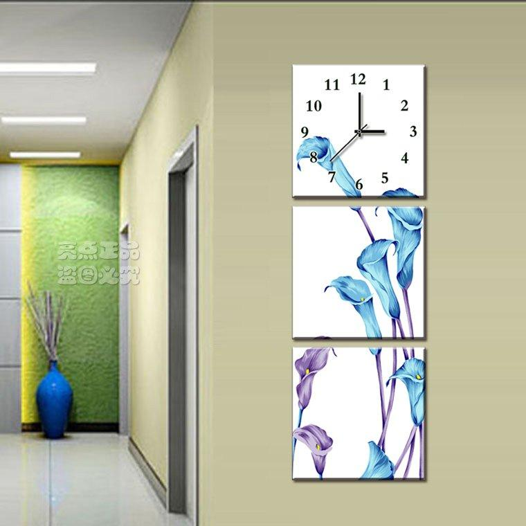 Cheap DHL Free shipping ,1 set ,Sanlian outfit Vertical shape Art Wall  Clock,