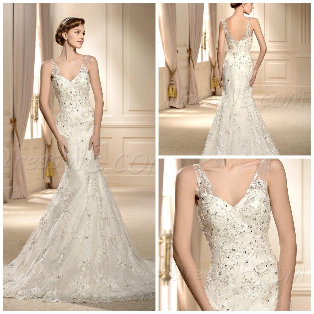 Elegant Lace Wedding Dresses 2014