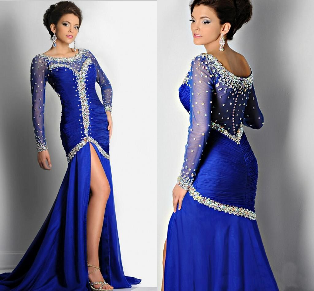 Royal Blue And Silver Dress With Sleeves | www.pixshark ...