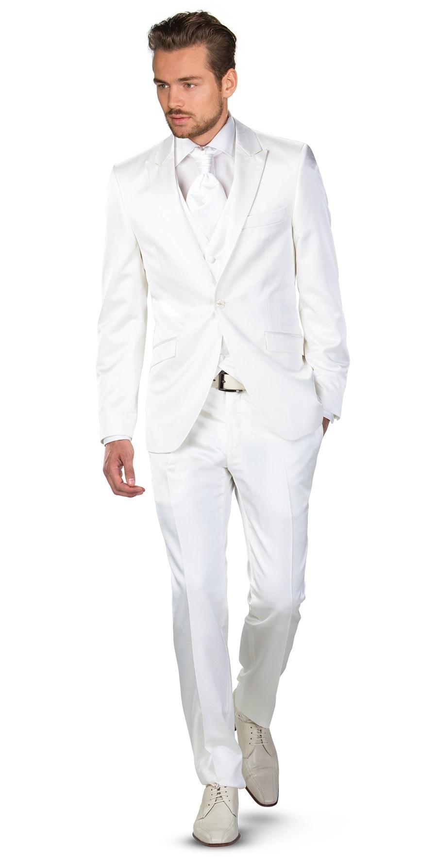 Mens All White Suit Dress Yy