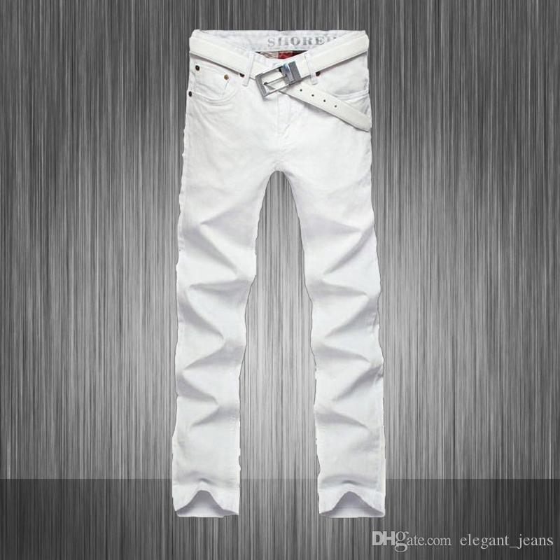Top Quality!2013 New Casual Mens Designer White Jeans Famous Brand ...