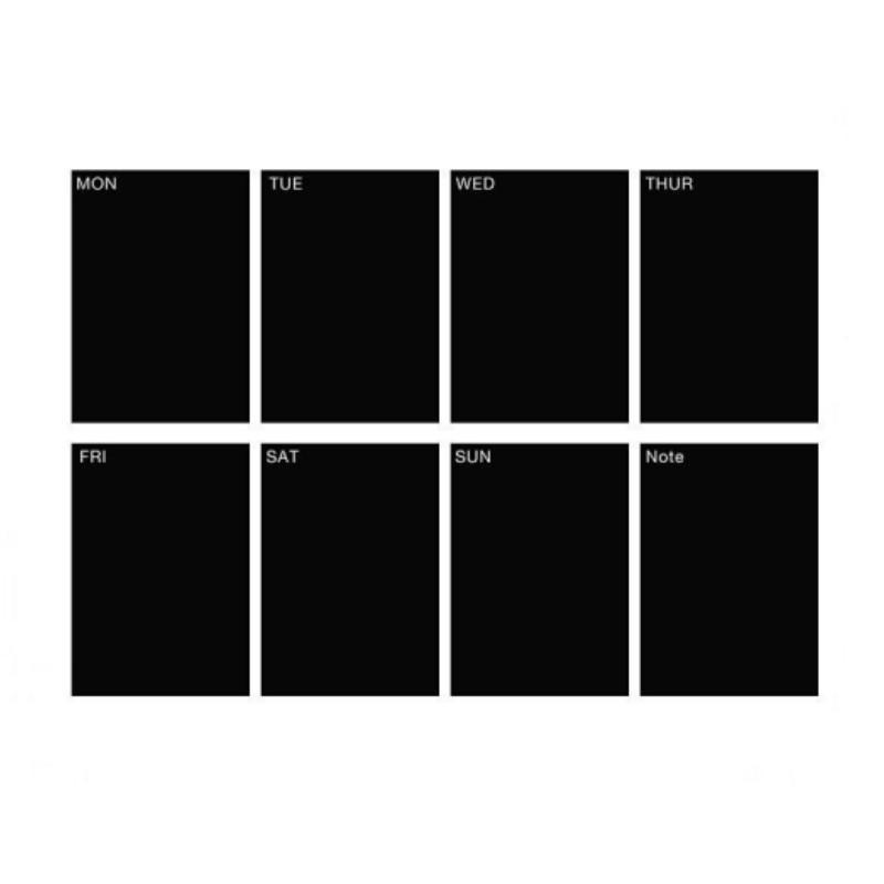 Weekly Planner Calendar Memo Chalkboard Blackboard Vinyl Wall – Weekly Memo Calendar