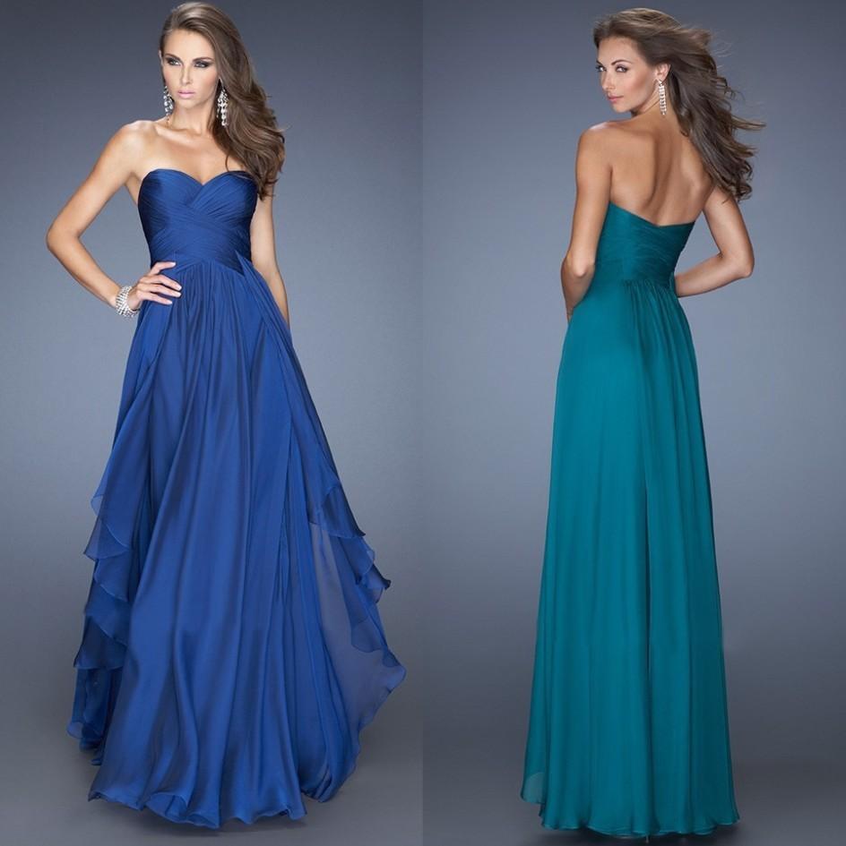Blue and Orange Bridesmaid Dresses_Bridesmaid Dresses_dressesss