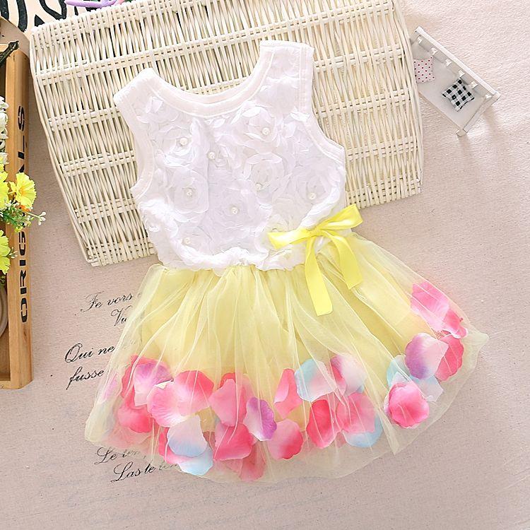 Cotton Baby Girl Tutu 1st Birthday Party Dress Kid Holiday