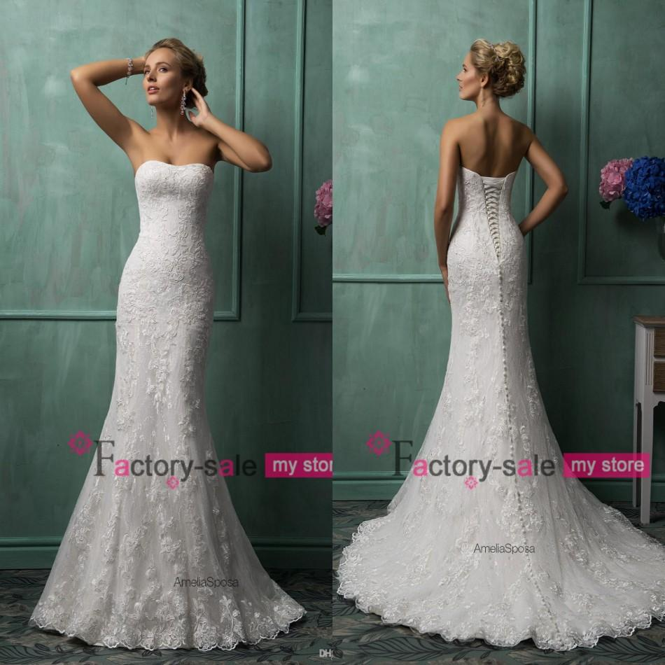 Dress body type mermaid wedding dress with straps from factory sale