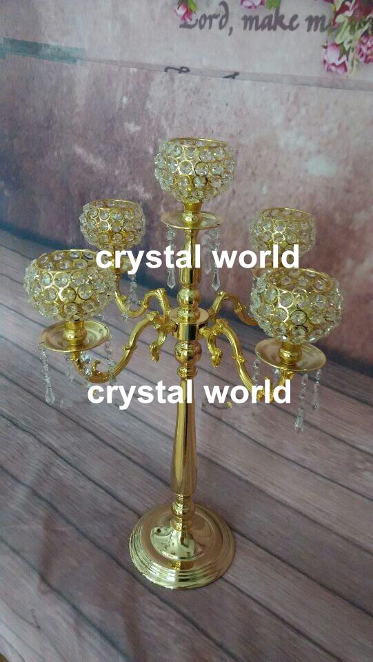 Crystal gold candelabra centerpieces tall table standing