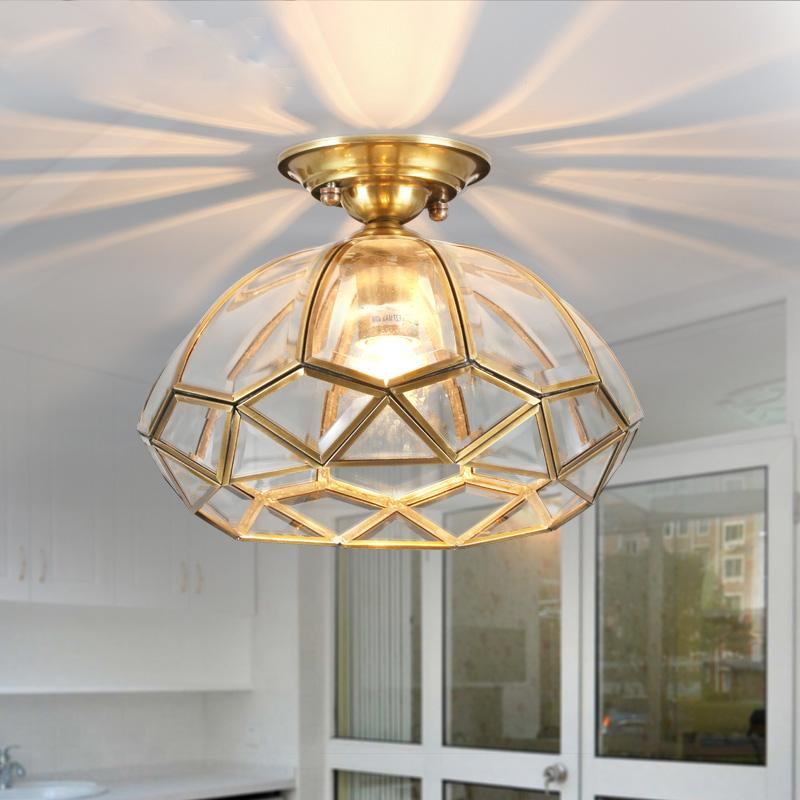 European Vintage Copper Cloakroom Ceiling Light Corridor Bedroom Chandeliers Indian Traditional Lamp Hallway Gallery