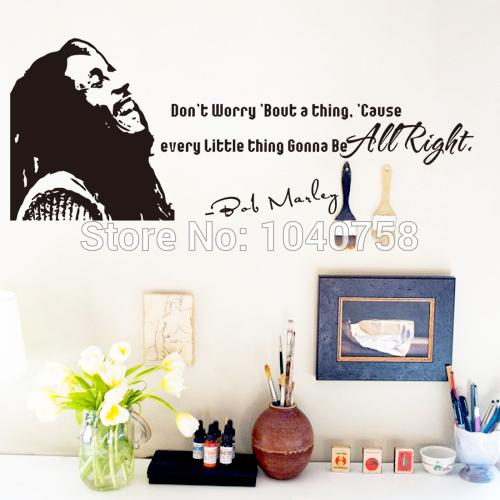 Home Decor Wall Sticker Bob Marley Wall Stickers Home Decor Don'T