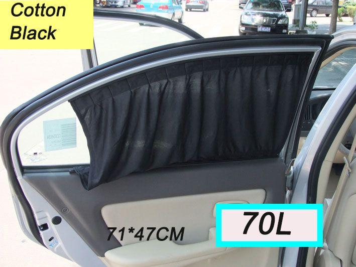 Curtains Ideas car window curtain : 2017 New Black Cotton Fabric 70l Car Auto Window Curtains Sunshade ...