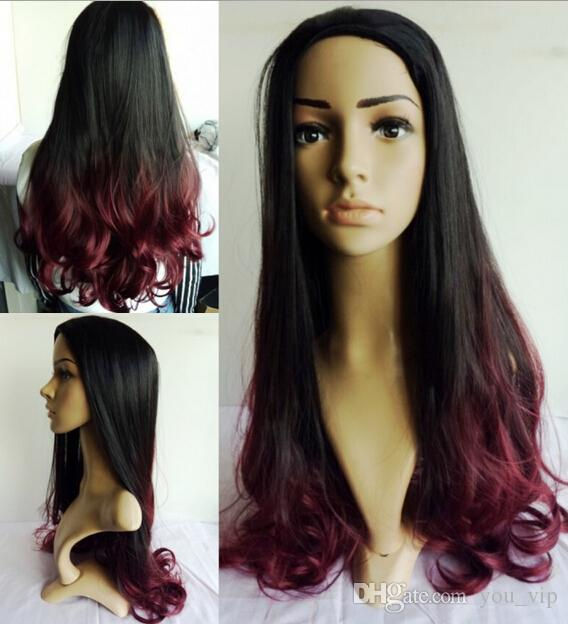 Remarkable 2016 New Long Two Tone Color Ombre Black Root To Wine Red Hair Short Hairstyles For Black Women Fulllsitofus