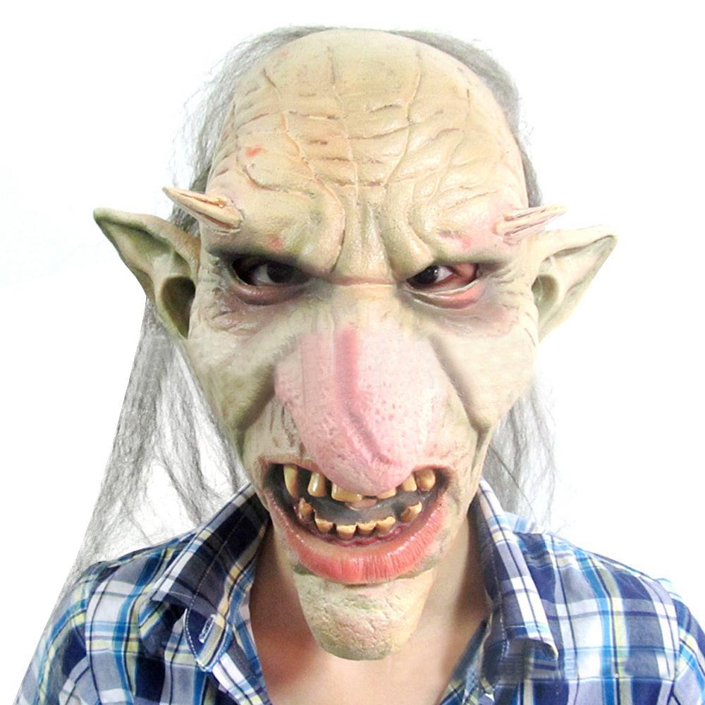 Halloween Mask Creepy Latex Big Nose Full Head Mask Carnival Party ...