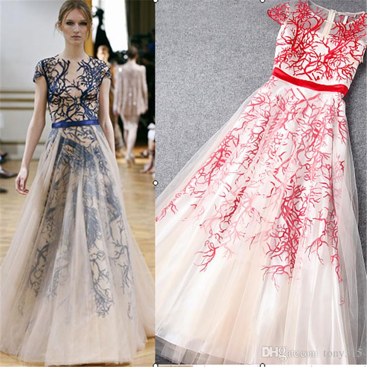 Europe Host Long Embroidery Party Maxi Dress Long Elegant Women ...