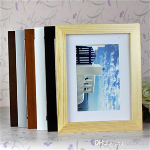 2017 modern art craft 7 inch white wooden photo frame for Craft picture frames bulk