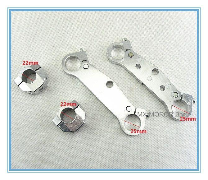 25mm Mini Dirt Bike Front Fork Steering Clamps Kit 25mm Diameter