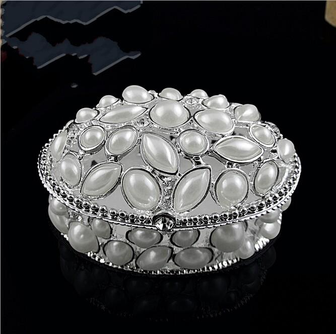 2017 high end jewelry boxes for woman luxury pearls inlaid for High end gifts for women