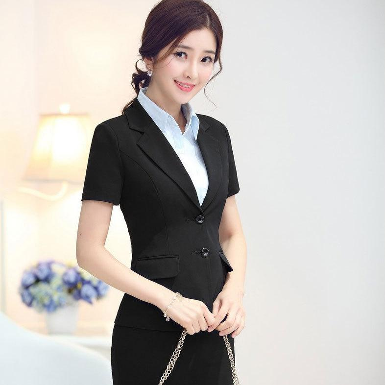 2017 summer office uniform design for ladies skirt set new for Office uniform design 2015