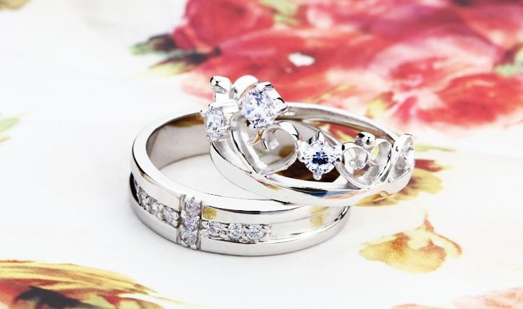 discount wedding rings for men and women cross crown simulated diamond ring crystal jewelry 2015 trendy fashion couple rings ulove j412 from china dhgate - Discount Wedding Rings Women