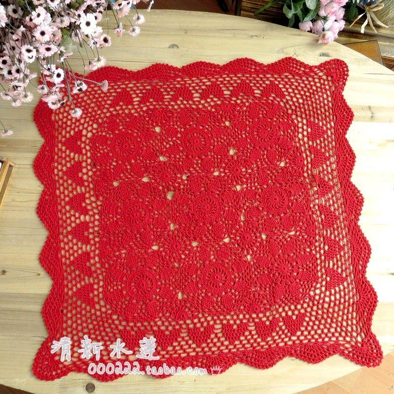Fashion Design Handmade Crochet Sofa Towel Cover Tablecloth Table Runner Coaster Coffee Table Decor Overlay As Wedding Gift