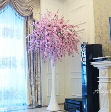 Hi Q Cherry Blossom Flower Decoration Wedding Hotel Living Room Vase Artificial Sakura 2 Color
