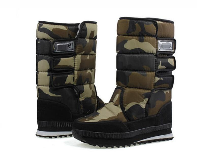 Mens Womens Fur Lined High Top Waterproof Snow Boots Outdoor ...