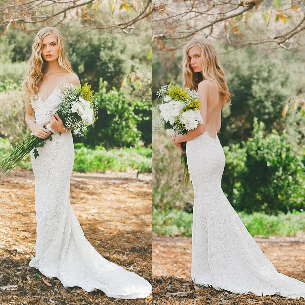 Glamorous Low Back Mermaid Wedding Dress 2015 Eiffelbride