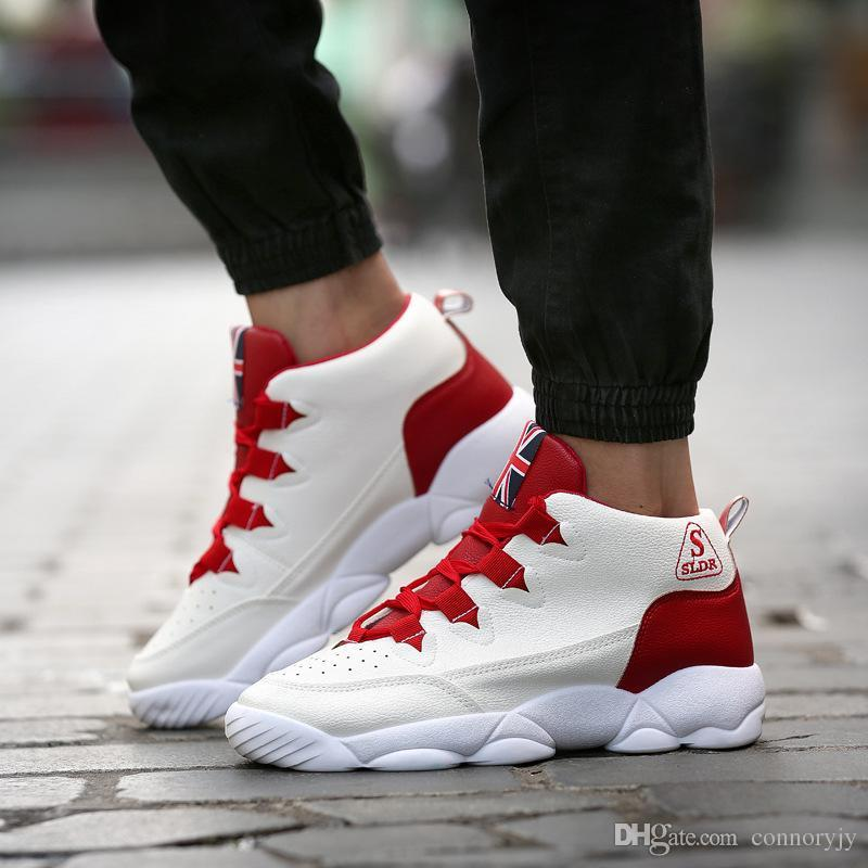 2016 High Top Basketball Shoes, Sports Shoes Autumn And Winter Men ...
