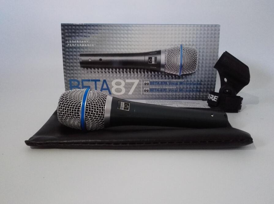 Top quality version Beta 87A vocal Karaoke microphone Super clear live vocal dynamic wired handheld microphone free shipping
