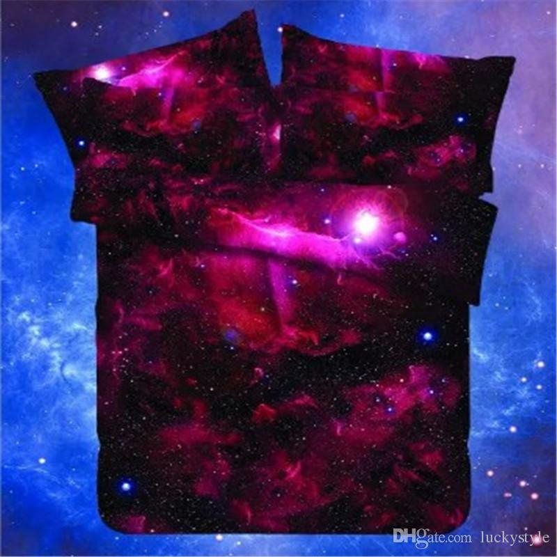 3d Galaxy Bedding Sets Twin Queen Size Universe Outer