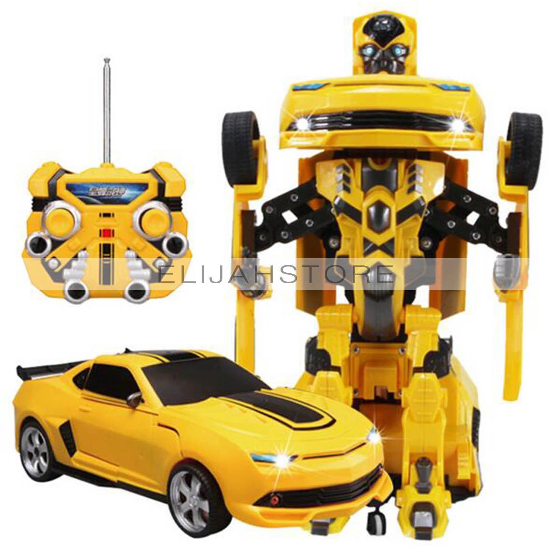 Rc car transformation remote control robot car deformation electronic one key transform toys action figure for kids gift rc car remote control car car