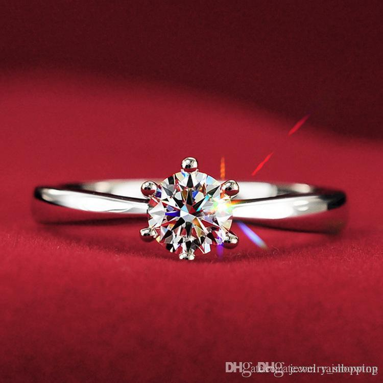 For Solitaire Diamond Engagement Rings Finger