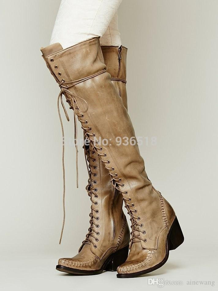 Womens Boots 2015 Winter Boots New Fashion With Zipper Knee Boots ...