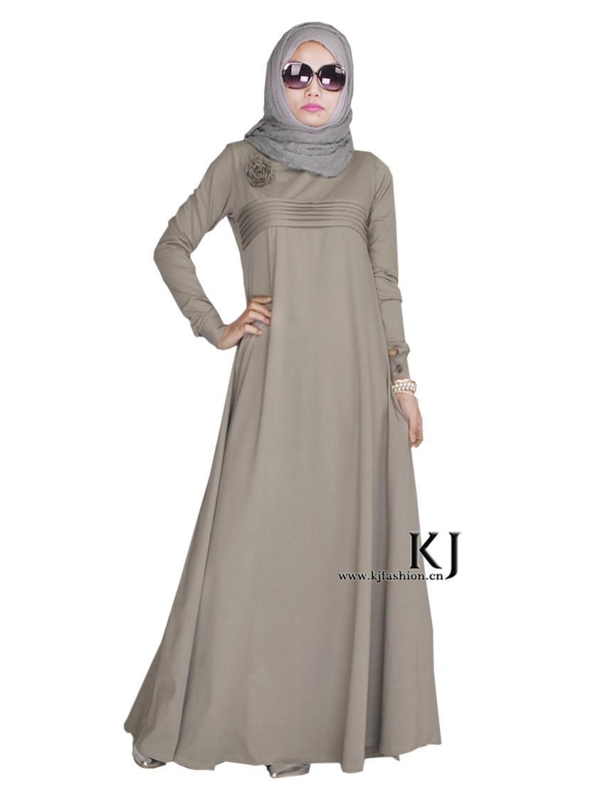 2015 Lastest Design Hijab Long Dress Women 39 S Casual Long Muslim Dress Plus Size Flower Dubai