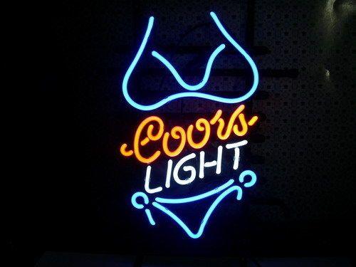 2017 Coors Light Purple Bikini Neon Sign Bar Light Beer