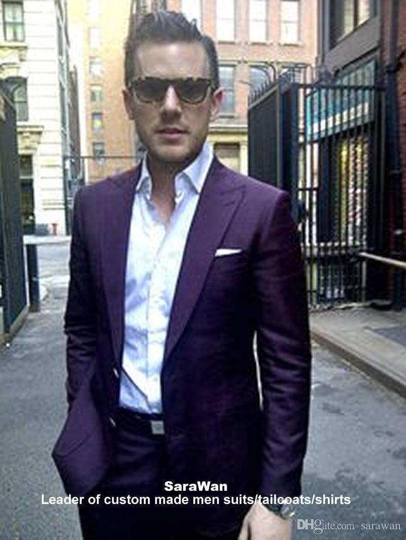 Purple Suit Custom Made Dark Purple Suits For Men,Tailor Made