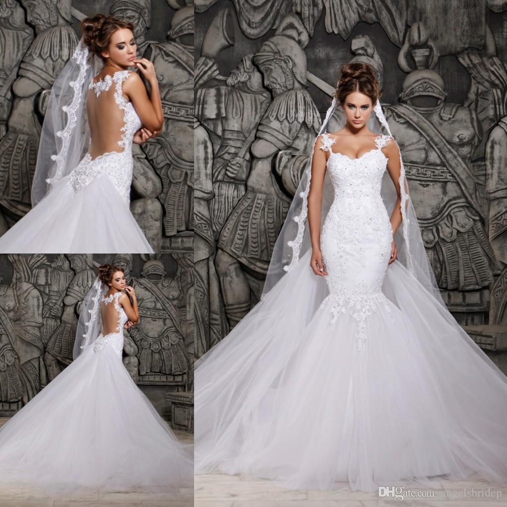 Luxury Chapel Wedding Dresses With Detachable Trains