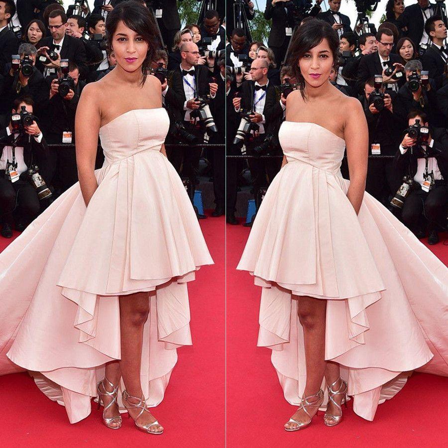 high low celebrity red carpet dresses 2015 strapless short