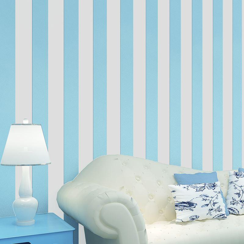 fashion modern wall paper pink blue striped wallpaper for