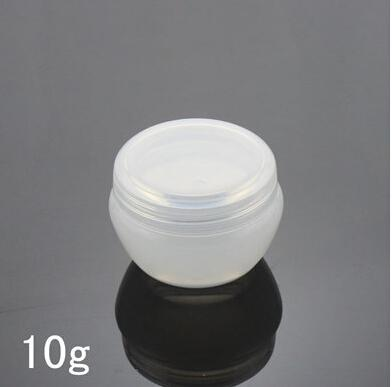 10g White Mushroom Cosmetic Sample Containers Small Plastic Empty ...