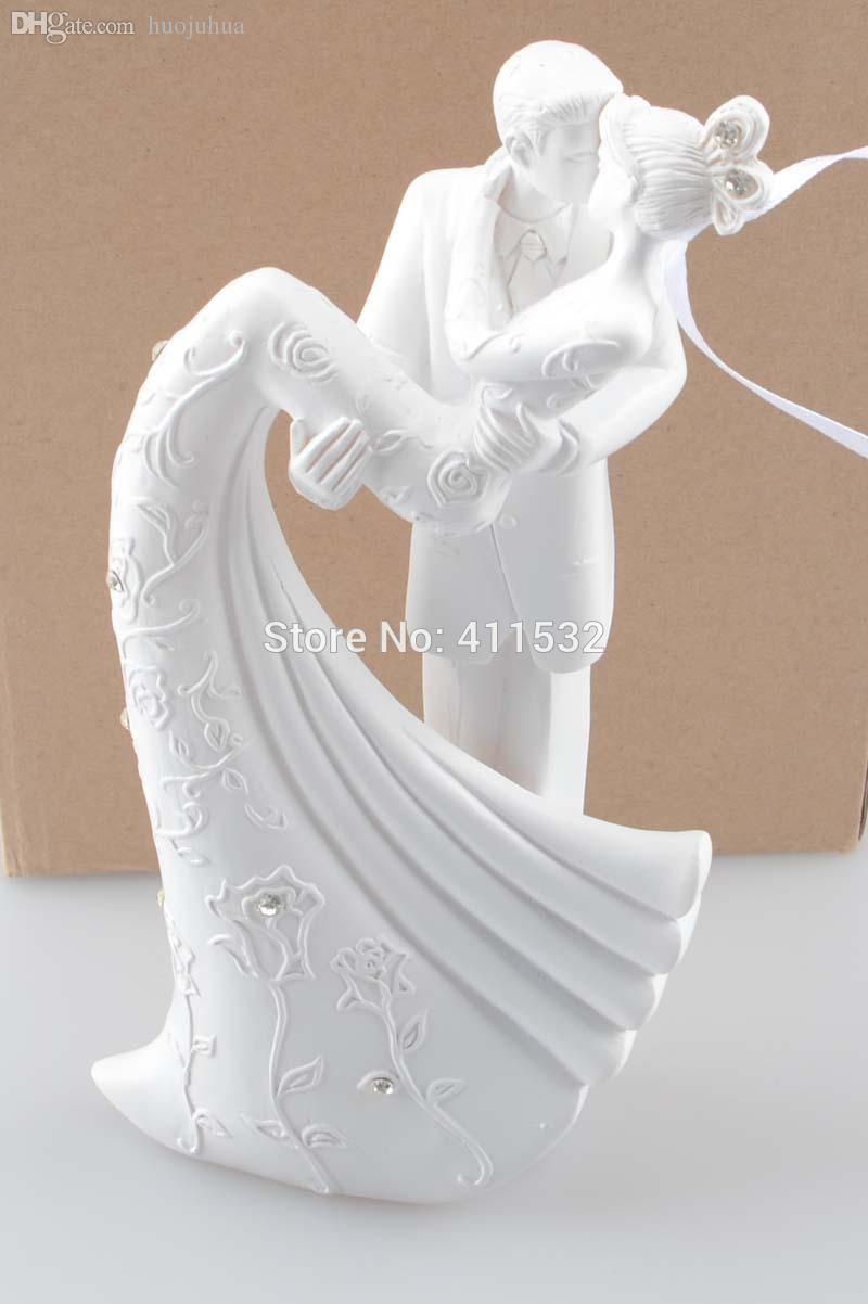 Wholesale-Bride And Groom Resin White Wedding Cake Topper Cake Stand ...