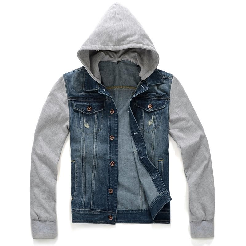 2015 New Arrival Autumn Denim Jacket Men Fashion Hoodies Men ...