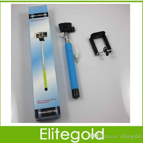 2017 z07 5s cable monopod wired selfie stick for samsung android phone ios ip. Black Bedroom Furniture Sets. Home Design Ideas