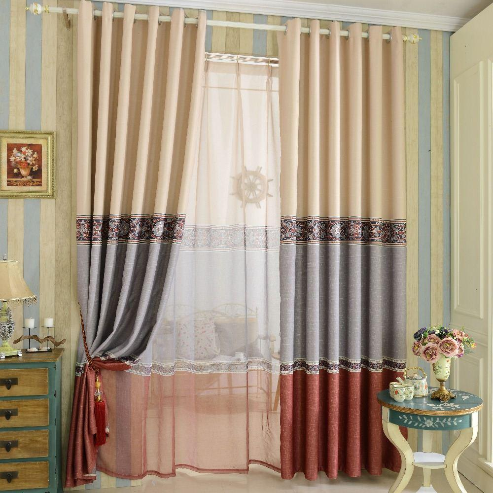 Simple Design Printed Blackout Curtain