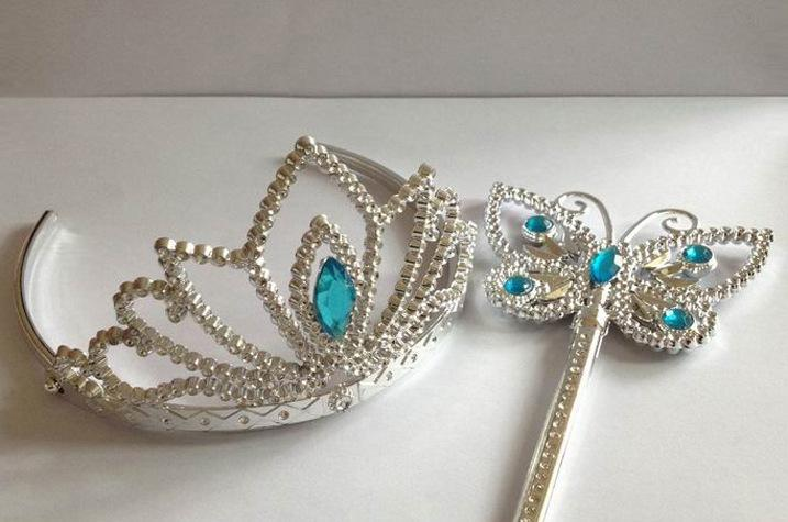 Cinderella crown butterfly wands party tiaras crowns for Butterfly wands wholesale