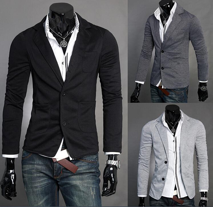 Man Leisure Blazers Men Male 2015 New Arrival Slim Fit Casual Suit ...