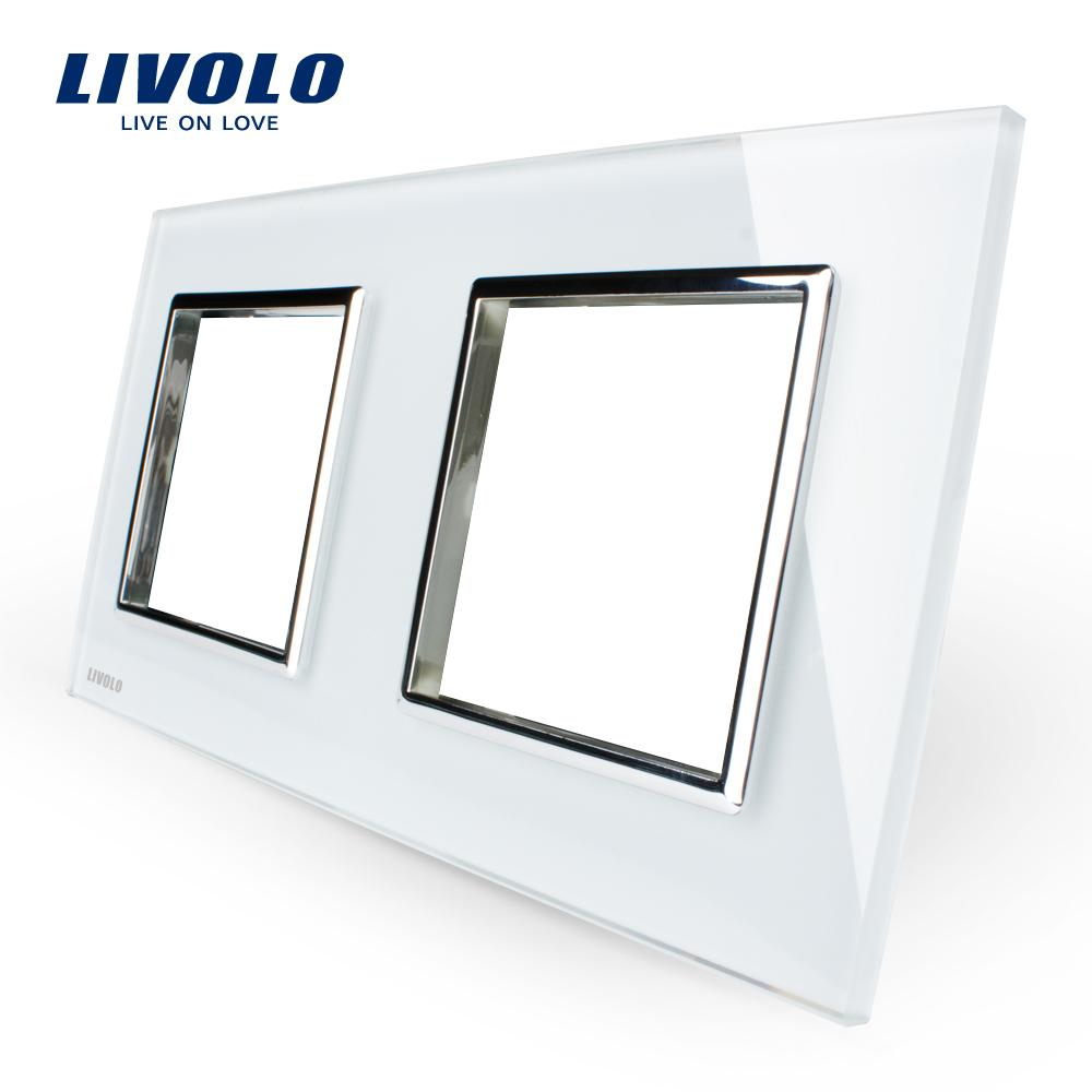Livolo Luxury White Pearl Crystal Glass, 150mm * 80mm, norme UE, Double vitrage