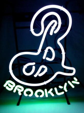 hot brooklyn neon brewery originalnew york basketball nib beer bar handcrafted custom real glass tube neon signs 18x16 neon signs brookyn