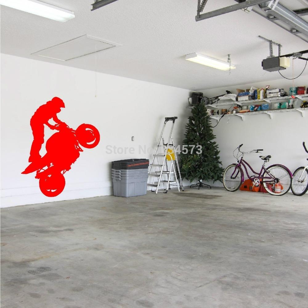 ome decor wall sticker hot superbike wheelie motorbike stunt wall ome decor wall sticker hot superbike wheelie motorbike stunt wall art sticker wall decal diy home decoration wall mural removable room st