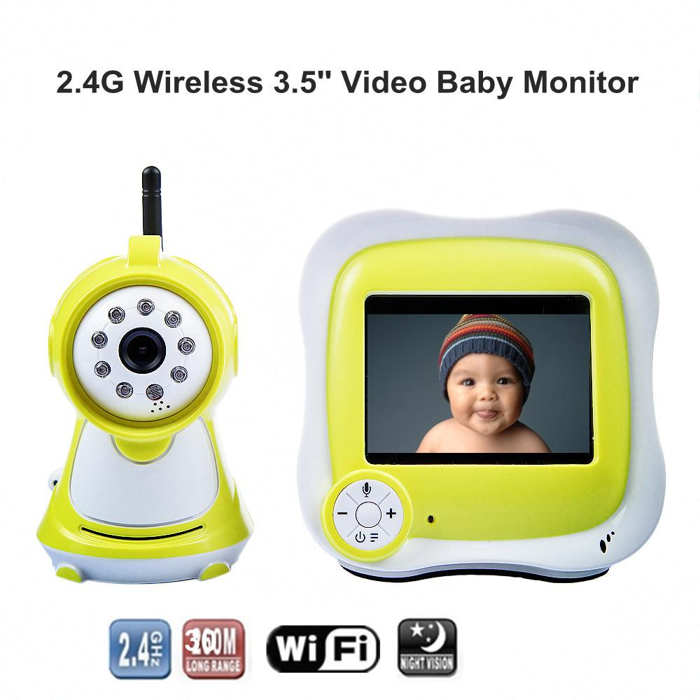 best 3 5 39 39 lcd wireless night vision video camera baby monitor security cameras receiver with. Black Bedroom Furniture Sets. Home Design Ideas
