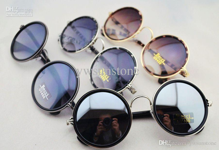 sunglasses online for women  Vintage Round Retro Women Sunglasses ,Super Mirror Lens Sunglasses ...