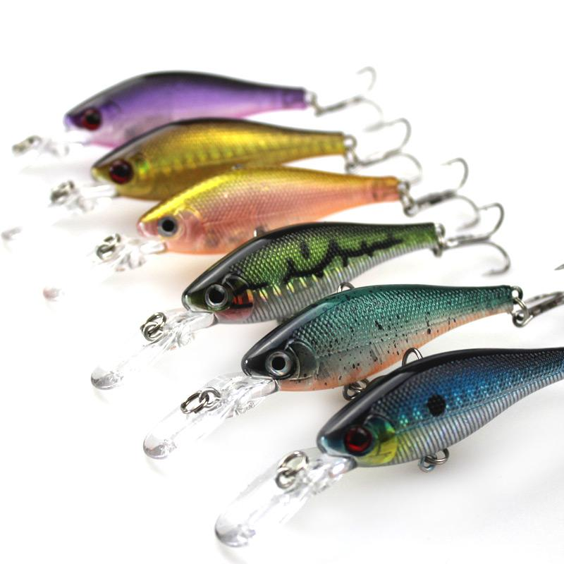 Hard plastic minnow fishing lures bass minnow crankbait for Bass fishing lures for sale